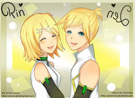 Collab: Rin and Len with Gorenute by AnOnA-Q8