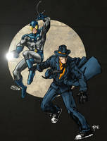 Blue Beetle and the Question by RamonVillalobos