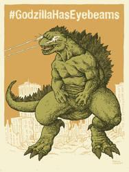 #GodzillaHasEyebeams by RamonVillalobos