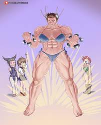 Beefcake Chun-li Power Up Bikini by skriber