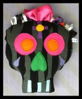 Sugar Skull little cushion by DarkDollArt