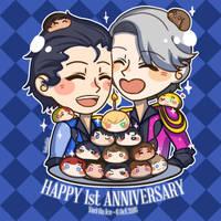 Happy 1st Anniversary Yuri On Ice by VodkaaKola