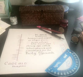 Calligraphy with Ogham~ Caol ait by Lupina24