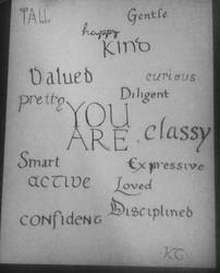 Calligraphy- Pep Talk by Lupina24