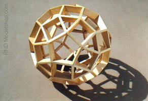 Wood Rhombicosidodecahedron by RNDmodels