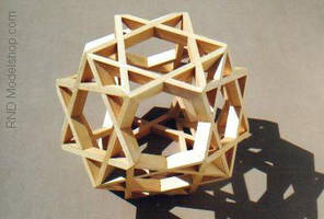 Octahedron of 8 Hexagrams by RNDmodels