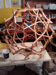 Dodecahedron wood Sculpture by RNDmodels