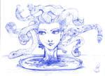 Medusa on plate by lorenpb