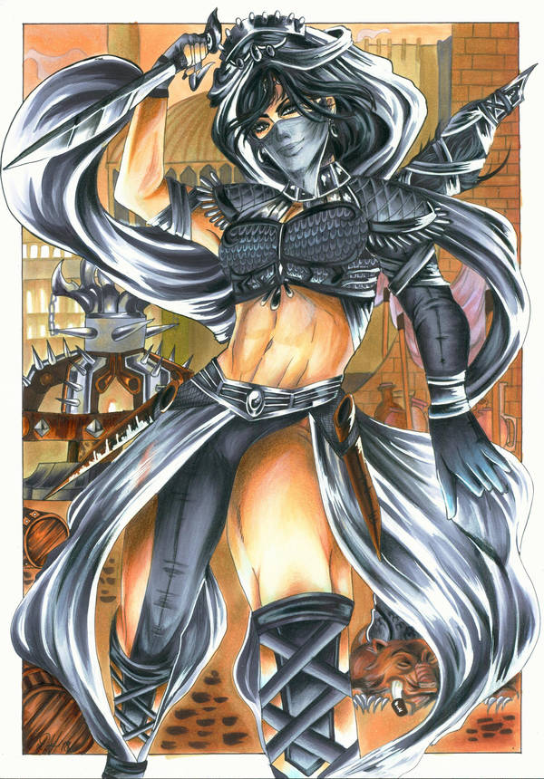 Grey Death - Mortal Kombat OC Zerrin by Shiranui94