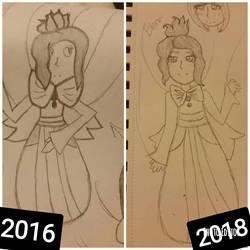 2016 VS 2018 Art Comparison OC by PoffinSweetz