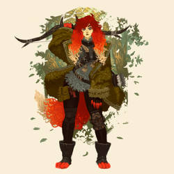 Ginger Ranger (also a Wolf person). by cromwaits