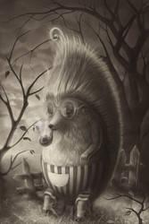 The Smoking Hedgehog by shende-bende