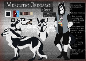 Fursona: Mercutio Oregano Reference 2018 by CXCR