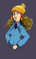Hermione with Jayne Beanie by moderate-mind