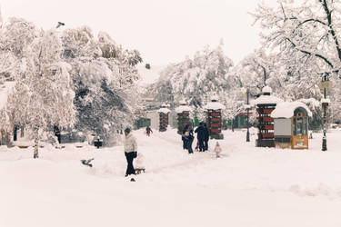 Town Square Under Snow by Anonimus79