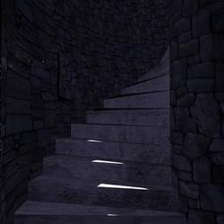 Castle Stairway by Irishchicky