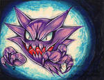 Haunter mixed medium by MiakaLin