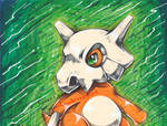 Cubone mixed medium by MiakaLin