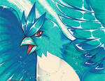 Articuno crayola drawing by MiakaLin