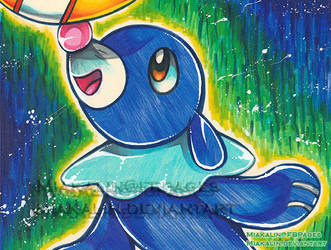 Popplio crayola drawing by MiakaLin