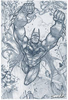 Batman Pencils by emmshin