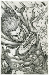 Superman : Man of Steel (lineart) by emmshin