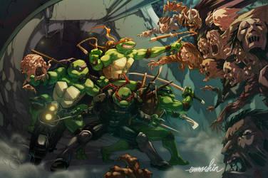 TMNT Zombie Apocalypse by emmshin