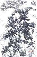 Guardians of the Galaxy (pencils) by emmshin