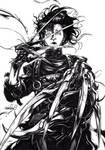 Edward Scissorhands (inks) by emmshin