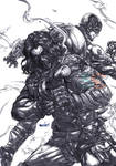 Winter Soldier (pencils) by emmshin