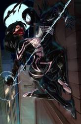 Silk n'Symbiote Spidey by emmshin