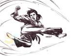 Roundhouse Kick (AI(pencils)) by emmshin