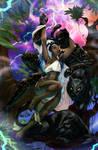 Storm x Killmonger by emmshin