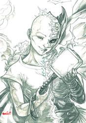 Jane Foster (pencils) by emmshin