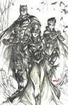 The Batman Family (pencils) by emmshin