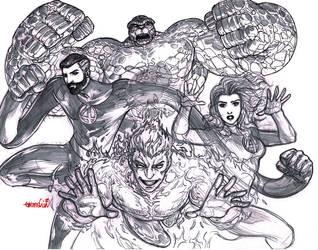 Fantastic 4 (pencils) by emmshin