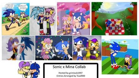 SonicXMina Art Group Collab Picture by grimlock1997