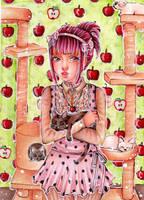ACEO Kitten Paradise by Anako-Kitsune