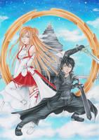 Fighting together!! by Anako-Kitsune