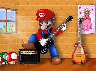 Super Mario Guitarist by Eduardo-13
