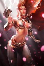 ladyThor by abraaolucas