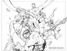 Carinhas_da_Marvel by abraaolucas
