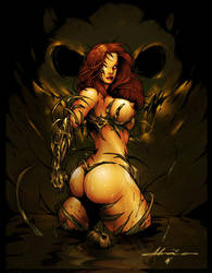 Witchblade COLOR by abraaolucas
