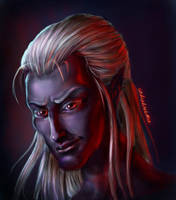 Drow elf by undeadcrabstick