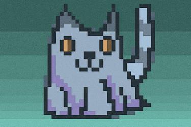 Blocky Pixelly Kitty by phlogiston99