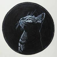 InkTober Day 11: Shadow Kitten by artifexToils