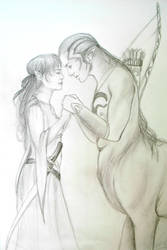 centaur und elfe by ElvensDay