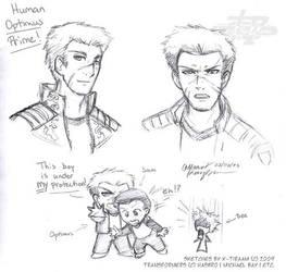 Human Optimus Prime by k-tiraam