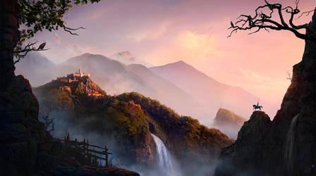 Golden Sunrise in Fairy Land by EyeSeeBlack