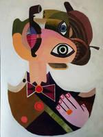 sherlock holmes cubism art by ab7772